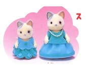 Sylvanian Families 2 Sets Girls Separates Small and Big and 2 sizes Boy Vest  Sewing Pattern PDF