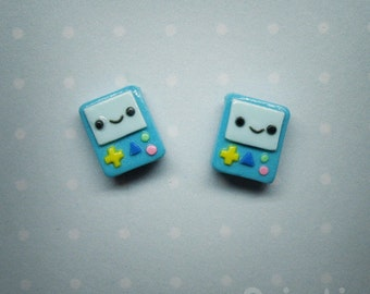 Beemo BMO Hand-sculpted Earrings - Adventure Time tribute