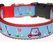"Golf Carts 1"" Adjustable Dog Collar"