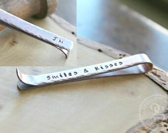 Personalized Tie Bar or Skinny Tie Bar, Men's Rustic Copper Tie Clip, Personalized Men's Gift, Mens Personalized Tie Bar - Jake Tie Bar
