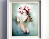 "Giclée Fine art print on canvas /  framed / ""Will i eve be safe again?"" / limited edition of only 5"