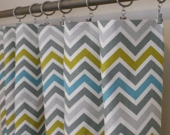 Curtain Panels 24W or 50W x 63, 84, 90, 96 or 108L in Premier Prints Zoom Zoom Summerland Natural