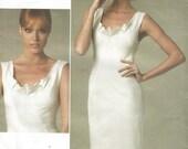 Uncut Vogue 1218 Donna Karan Collection American Designer  Dress Sizes 4 6 8 10 or 12 14 16 18  Bust 29.5  30.5  31.5  32.5 or 34  36 38  40