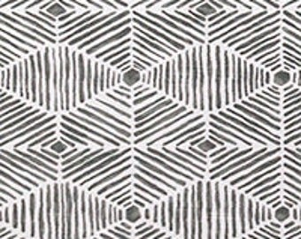 "Two 96""L x 50""W Custom Curtain Panels -  Diamonds and Squares - Grey/Gold/Navy/Salmon/Kiwi"