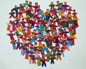 100 Handmade Tiny Worry Dolls  Best Quality made in Guatemala