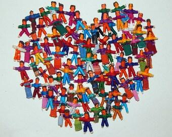 100 Handmade Tiny Worry Dolls  Best Quality made in Guatemala