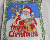 Presents Sack Santa Claus  Christmas Vintage Decoration