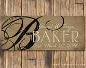 Personalized Wood Family Established Name Plaque, Family Established Wood Sign, Last Name Sign, Wedding  Anniversary Gift