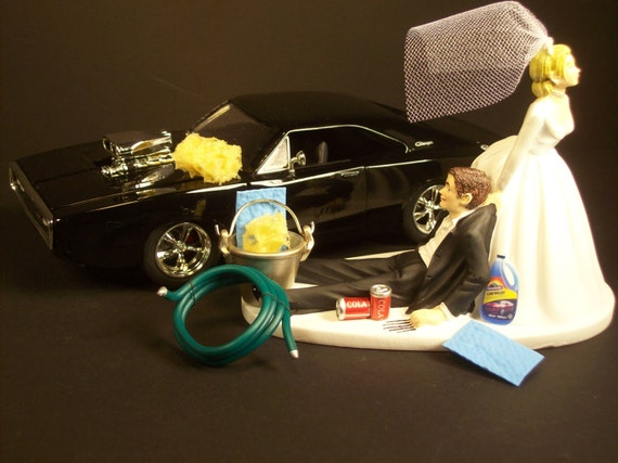 dodge truck wedding cake topper items similar to auto car wash 1970 dodge charger black 13664