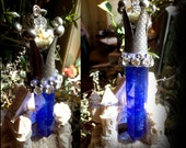 "Lady of Light..Magical  ""Stone Of Power"" Blue Smelting Quartz Crystal Necklace..The Tower Terrarium Has Stones & Herbs"