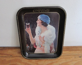 Vintage Coca Cola Advertising Serving Tray, 1973