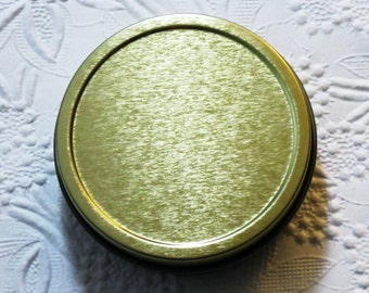 """Gold Round Tin Boxes for Collage Art 2-7/8"""" wide"""