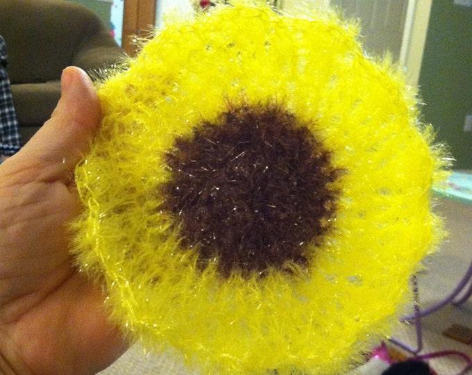 Sunflower Scrubber / Flower Susemi Scrubby / Dish Scrubbie