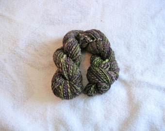 Handspun Yarn Worsted Weight - Dark Magic