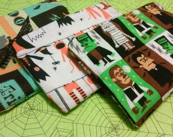 Frankenstein Bag Wallet - Coin Purses Wallets - Wolfman - Vampire - Dracula - Mummy - Halloween Bags