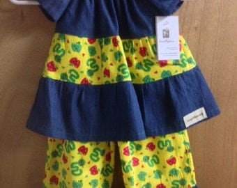 Peasant Top with Ruffle Pants, size 2t
