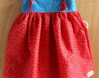 Summer Knot Top and Ruffle Shorts, children's size 7