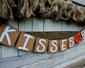 Valentine Kissing Booth Banner - Kissing Booth Photographers Prop - Valentine Banner - Valentine Garland -  Valentine Party Banner