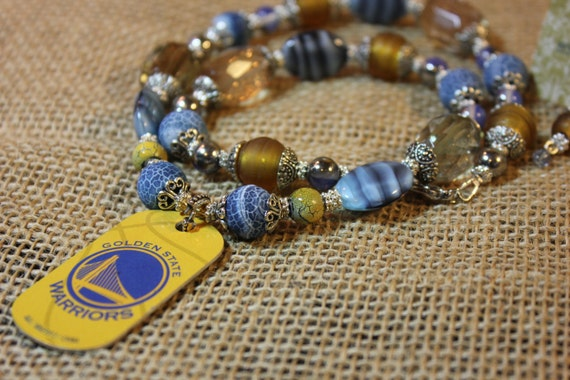 golden state warriors necklace and earring set the city