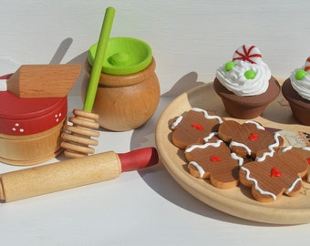 Holiday Baking Set Cookies for Santa Pretend Food Kitchen Accessories