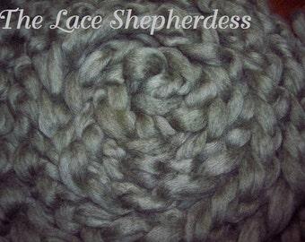 """Hand dyed Coopworth Wool Pin Draft Roving. 7.8 oz. """"Smiling Sage"""""""
