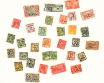 Vintage United States Used Stamps - 30 Stamps