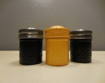 Vintage Kodak Film Canisters with Lids