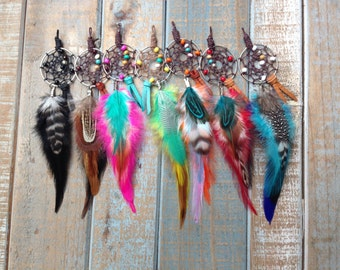 Gypsy Dreamcatcher Super Cute Small Feather Bag/Purse Charm or Single Earring