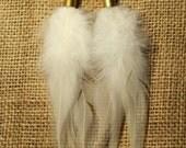 Bullet Feather Earrings, Feather Earrings, Bullet Shell Earrings