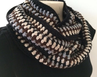 Crocheted Unisex Chunky Cowl Scarf, Usa Seller
