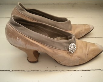 Antique shoes with rhinestones