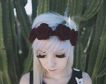 Demeter - Handmade Crochet Flower Crown Headband