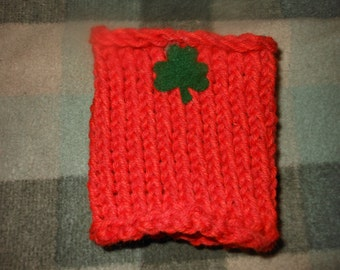 Knit Boot Cuffs Shamrock Boot Cuff Orange Boot Cuff Saint Patricks Day Irish