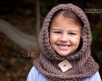 Knitting Pattern Child Cowl : Popular items for hooded scarf pattern on Etsy