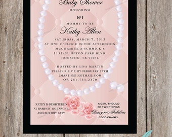 Chic Designer Inspired BABY Shower Invitation - PRINTABLE  or PRINTED