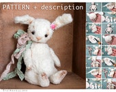 Pattern+ full description of sewing, stuffing and toning toy like Artist Teddy Сute Bunny 5,7 inch