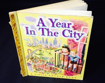 Vintage Children's Book - A Year in the City - 1948