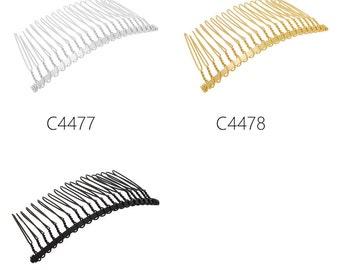 20PCS 7.7x3.6cm (20 teeth) Metal Hair Combs,plain combs