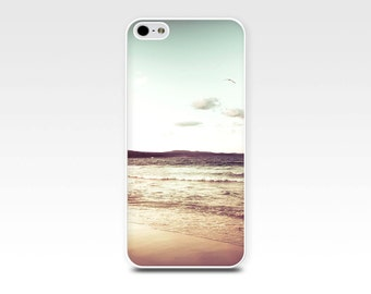 beach iphone case 5s iphone 6 case nautical iphone case 4s beach scene iphone case 5 ocean iphone case 4 vintage beach photo case mint beige