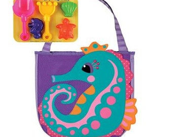 Seahorse beach bag | Etsy