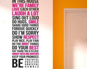 House Rules 4 Removable Wall Decal