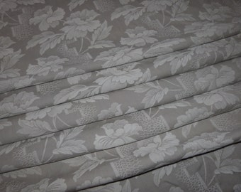 4.5 yards Vintage linen mattress ticking French ticking fabric, floral mattress toile w roses, sewing patchwork supply textile French fabric