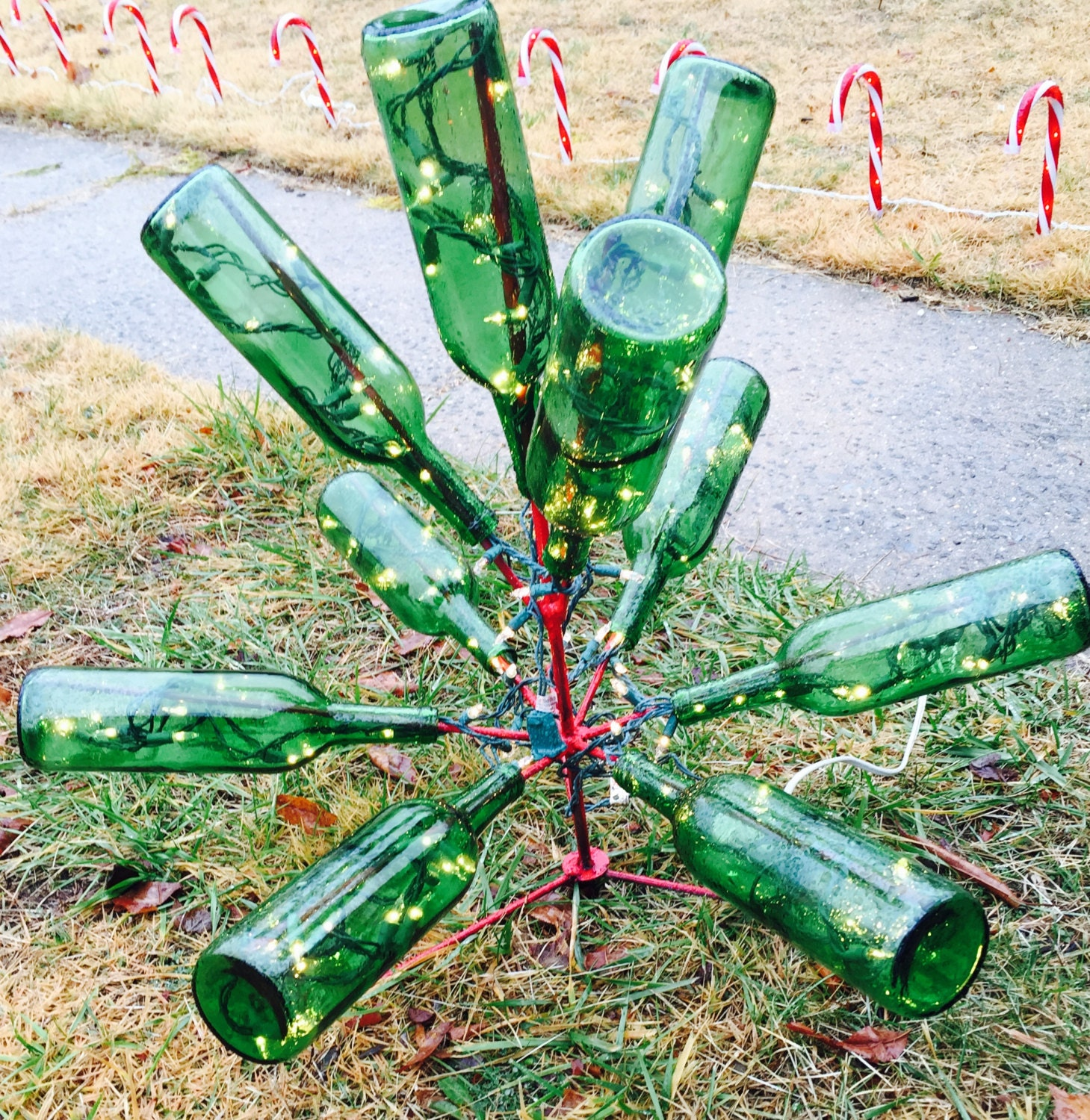 Wine Bottle Tree By EmulsionArts On Etsy