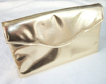 Paris ~ Gold Foil ~ Envelope Evening Clutch ~ Purse ~ Elegant Party ~ Wedding Chic