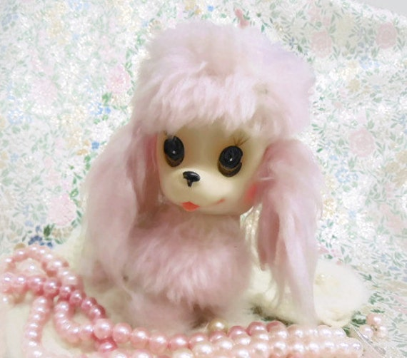 Rare Collectible Pink Vinyl Poodle by Kamar Ink