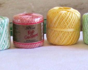 Crochet Thread Aunt Lydia and J&P cro-sheen