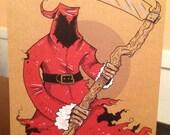 Grim Santa Card