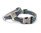 VAN GOGH PAWS Dog Collar with Laser Engraved Personalized Buckle
