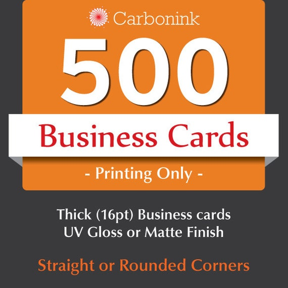 Business Cards printing only Custom Thick business cards