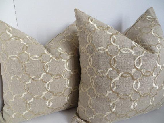 Decorative pillow cover beige gold pillow cover beige linen for Beige and gold pillows